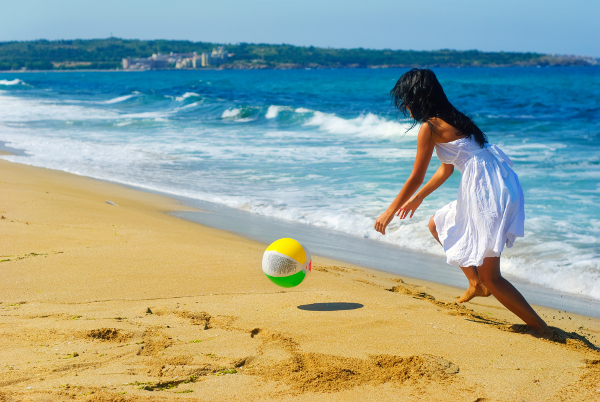 Playing on the shores of the Black Sea