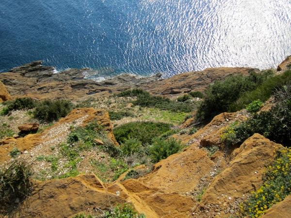 Cape Sounion cliffs, Greece