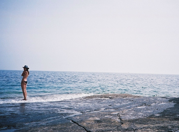 Croatian Cowgirl goes for swim