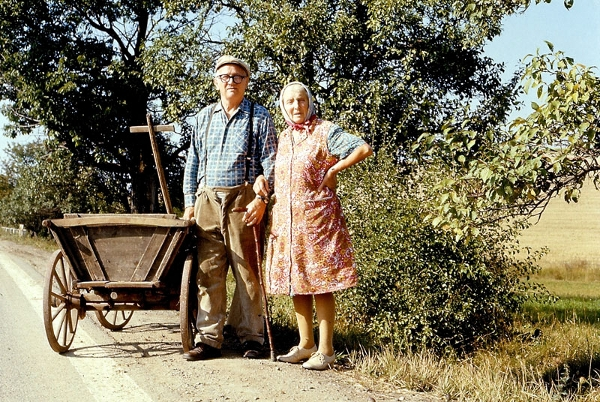 Czech couple on the road