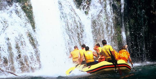 Rafting in Montenegro.