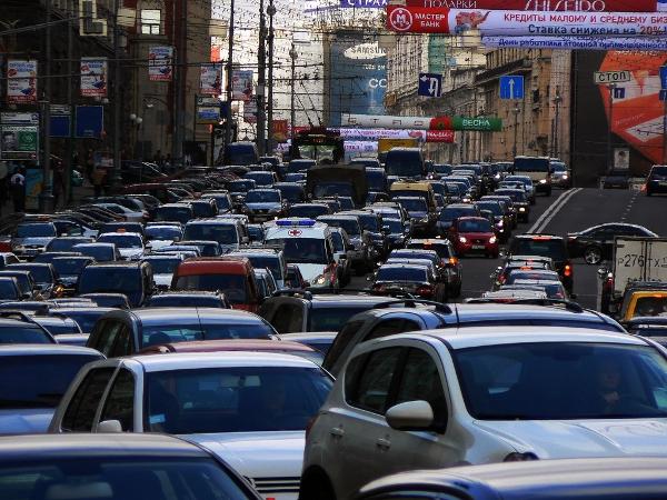 Russian traffic jam