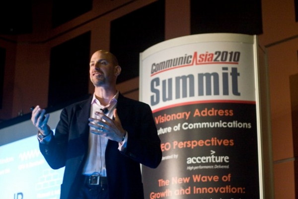 Skype CEO Josh Silverman presented the Visionary Address at the CommunicAsia2010.