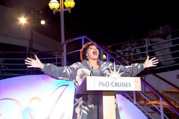 Shirley Basey at Adonia cristening