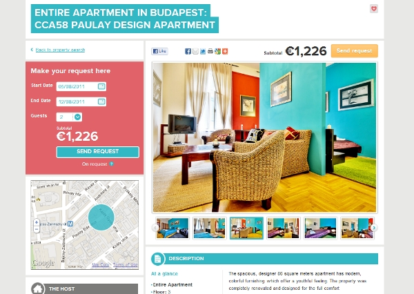 The two bedroom Budapest apartment
