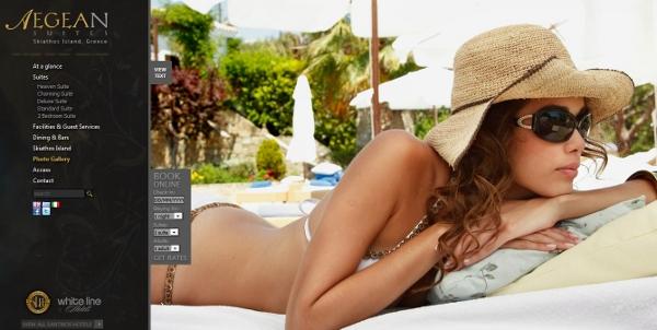 Gripping web design - Aegean Suites Hotel, Skiathos Island