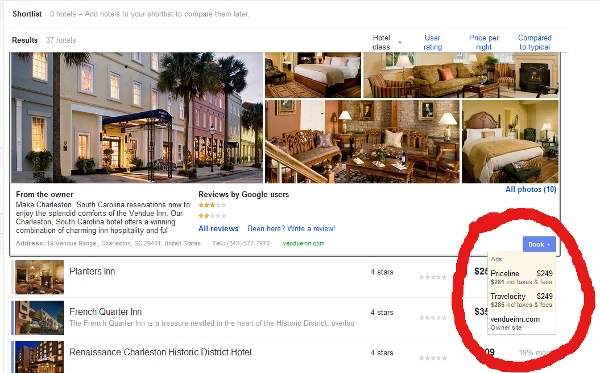 Google Hotel Finder ads