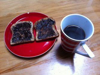 Richard MacManus and his breakfast