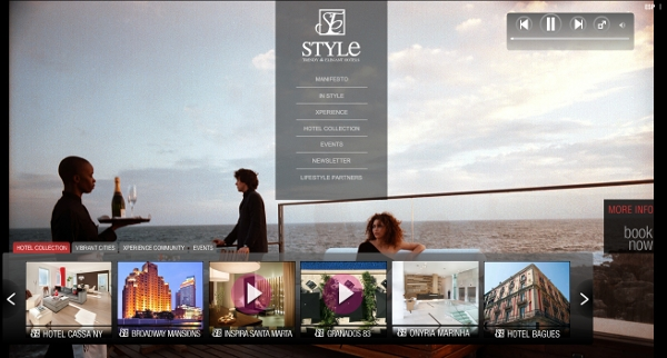 Style Hotels website