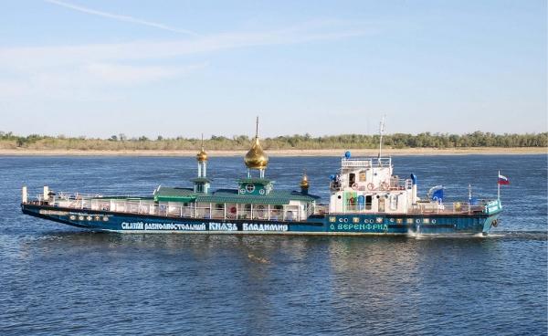 A Volga passenger barge