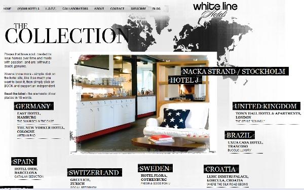 White Line landing page