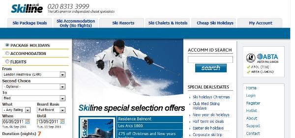 Skiline, not the best ski destination online