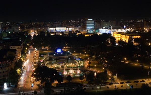 Tirana, Albania at night