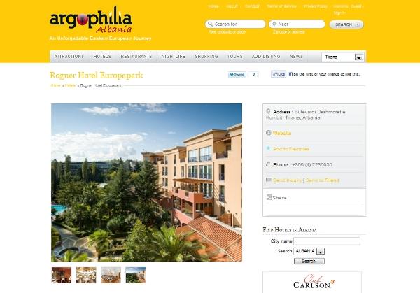 The Argophilia Albania hotels aspect