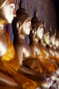 Bangkok Buddha statues.