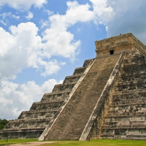 Aztec pyramid.