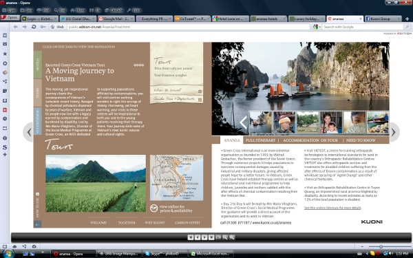 Kuoni Group interactive online brochure