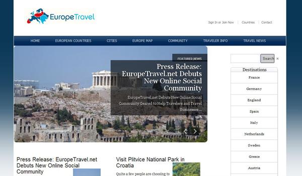 The new socially interactive EuropeTravel portal