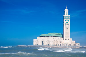 Mosque Hassan II in Casablanca.