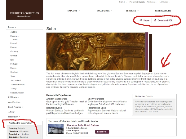Sofia, Bulgaria guide from Starwood's Luxury Collection