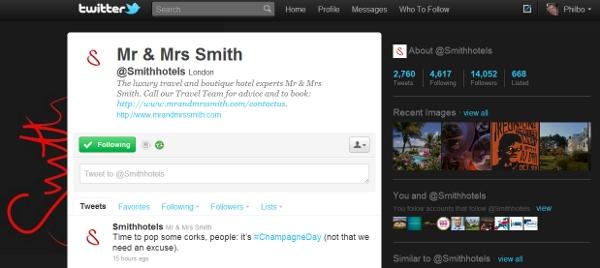 Mr & Mrs Smith Twitter engagement