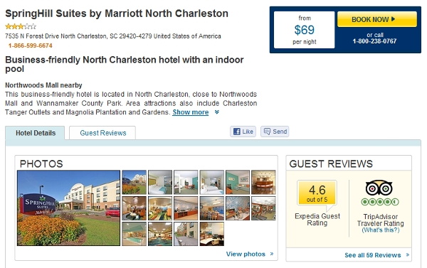 Spring Hill Suites go for in the neighborhood of $100