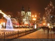 Christmas Mood on snowy Old Town Square, Prague