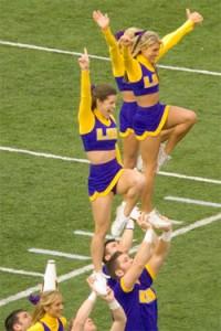 LSU cheerleaders.