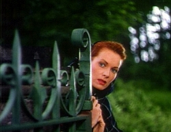 Maureen in The Quiet Man opening scenes.
