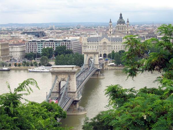 View from Sofitel Budapest Chain Bridge