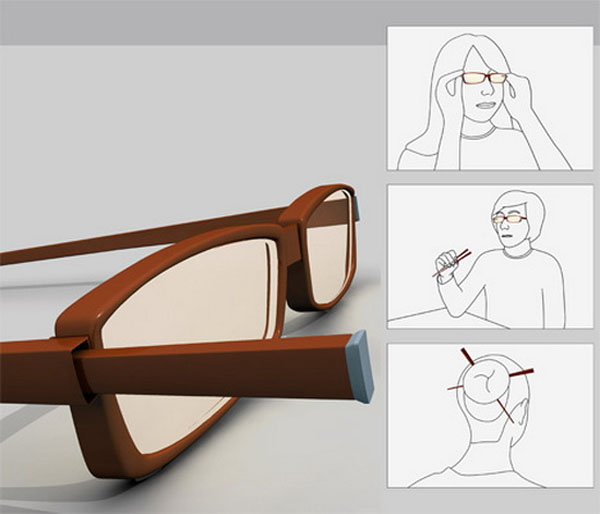 Chopstick glasses courtesy Craziest Gadgets