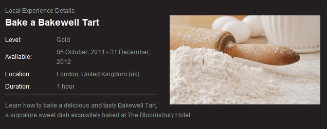 Baking a tart in London, what could be more fun?