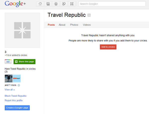 Is this Travel Republic's Google +?
