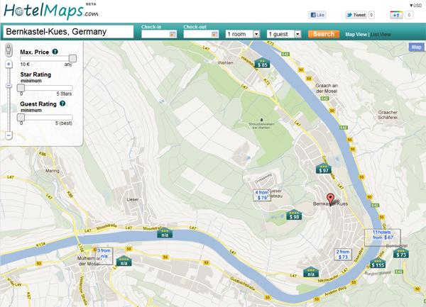 HotelMaps map is superb