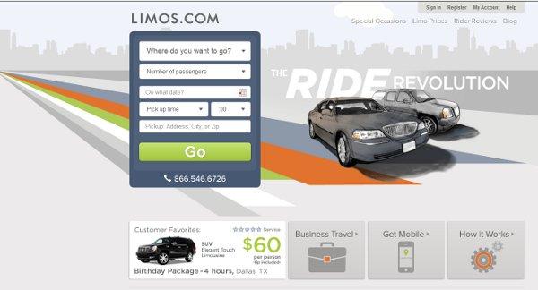 Limos landing page