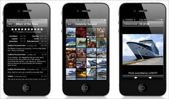 Mobile cruise app