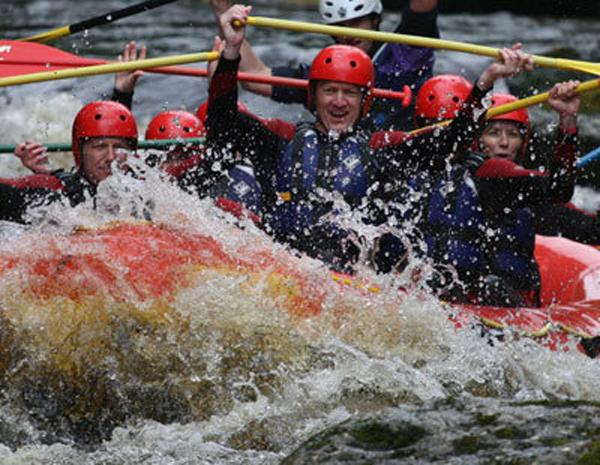 White water rafting via Adventure North Wales