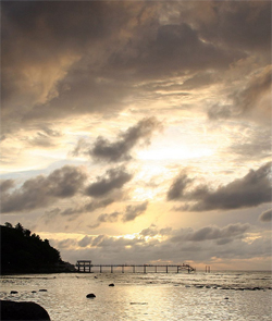 Coral beach sunset