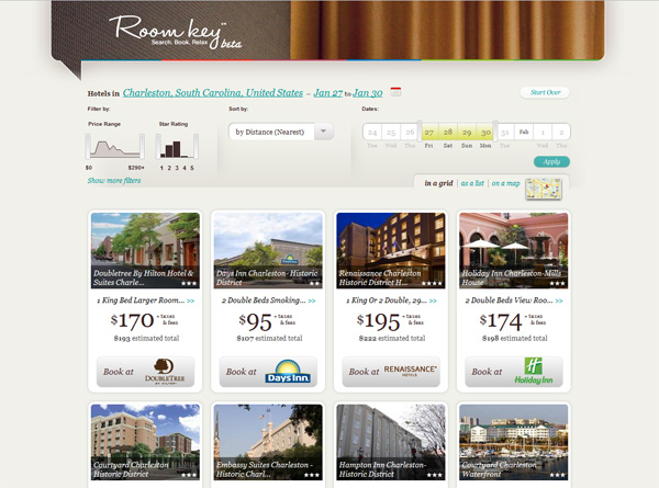 What Roomkey is great at, showing off hotel inventory