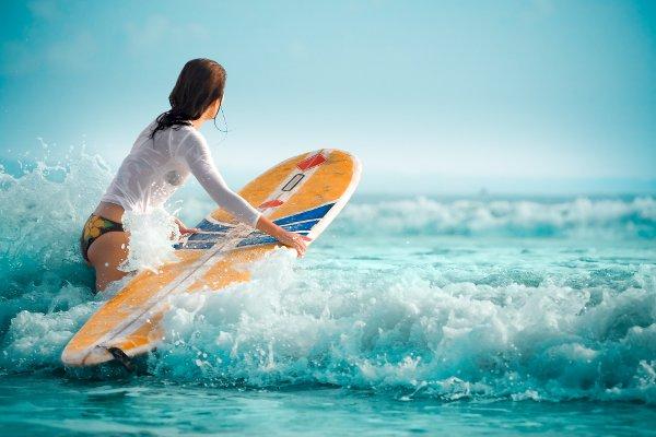 Bali surfer girl