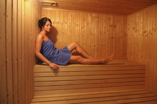 The sauna at Magnuson's Corallia Beach Hotel