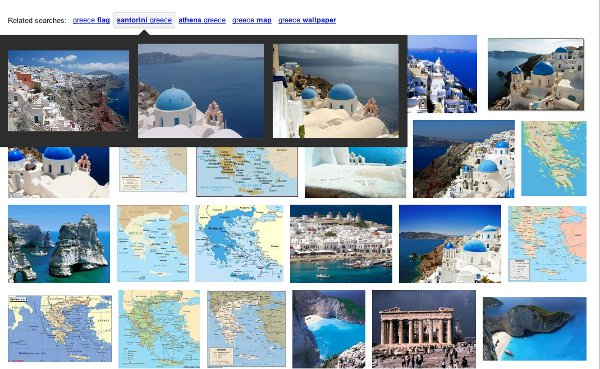Google image search refinements