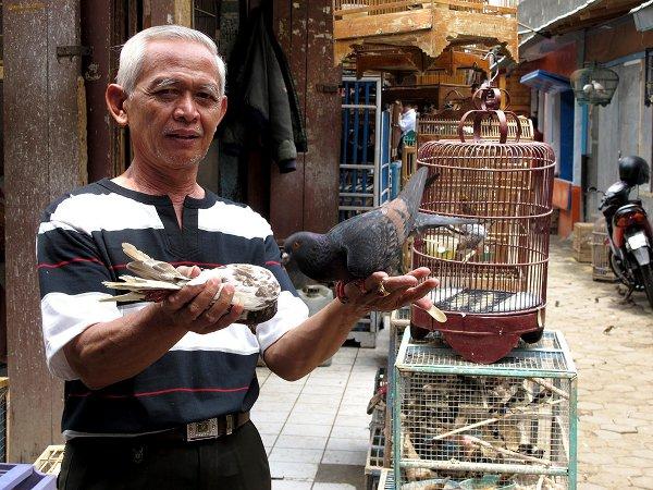 Vendor at one of Bandung's many markets
