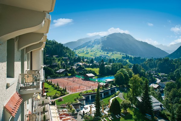 The view from Gstaad Palace, incomperable