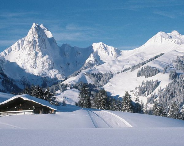 Gstaad Palace surroundings in Winter