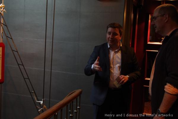 Henry Mona and Phil Butler talk at Hôtel des Académies et des Arts