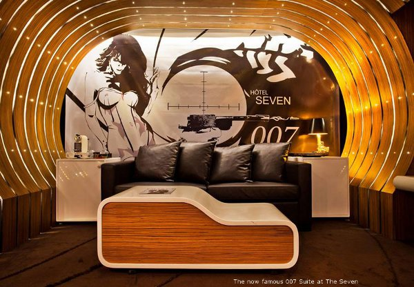The 007 Suite at Hotel Seven