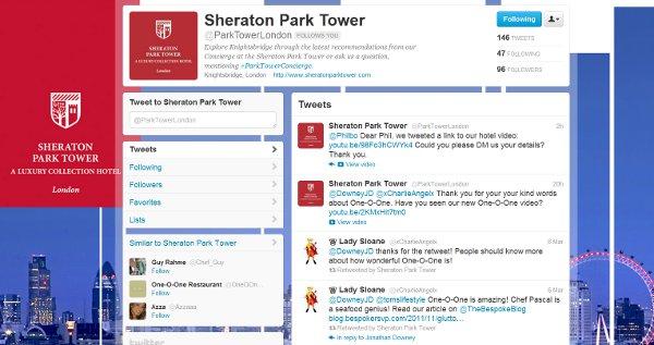 Sheraton Park Hotel Twitter