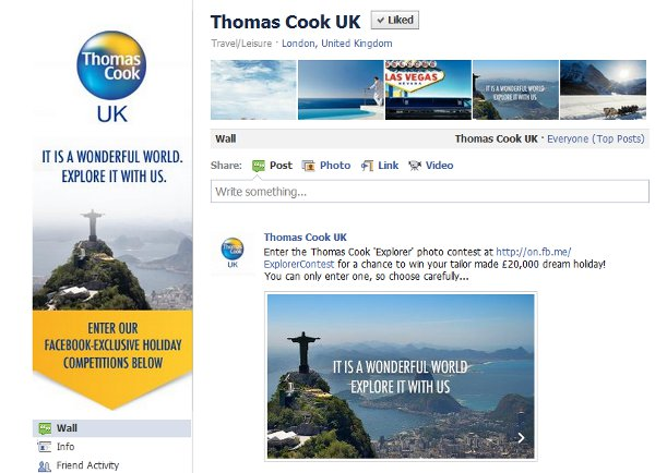Thomas Cook Facebook Campaign