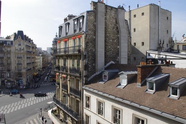 The view from Hôtel des Académies et des Arts
